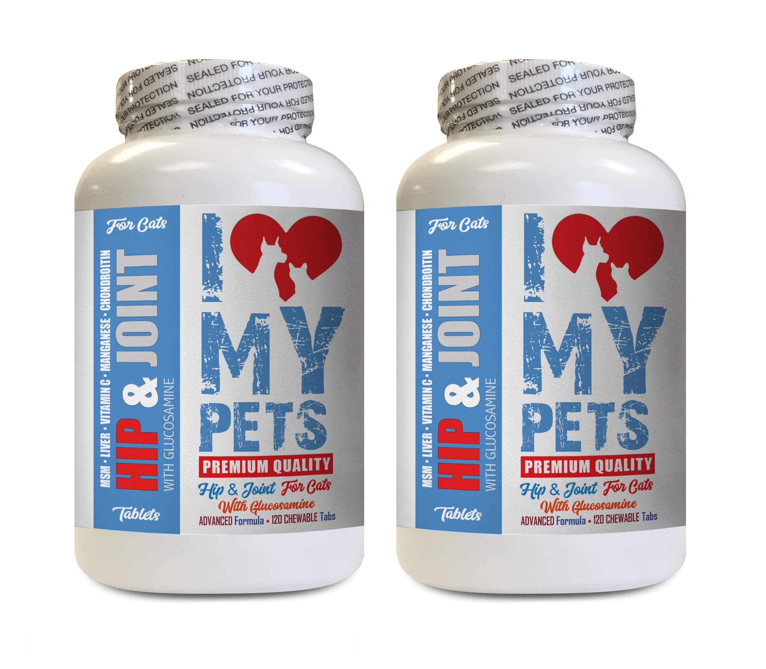 I LOVE MY PETS LLC Joint and Hip for Cats - CAT Hip and Joint Support - Best Strong Formula - Joint Supplements Cats - 240 Treats (2 Bottles) by I LOVE MY PETS LLC