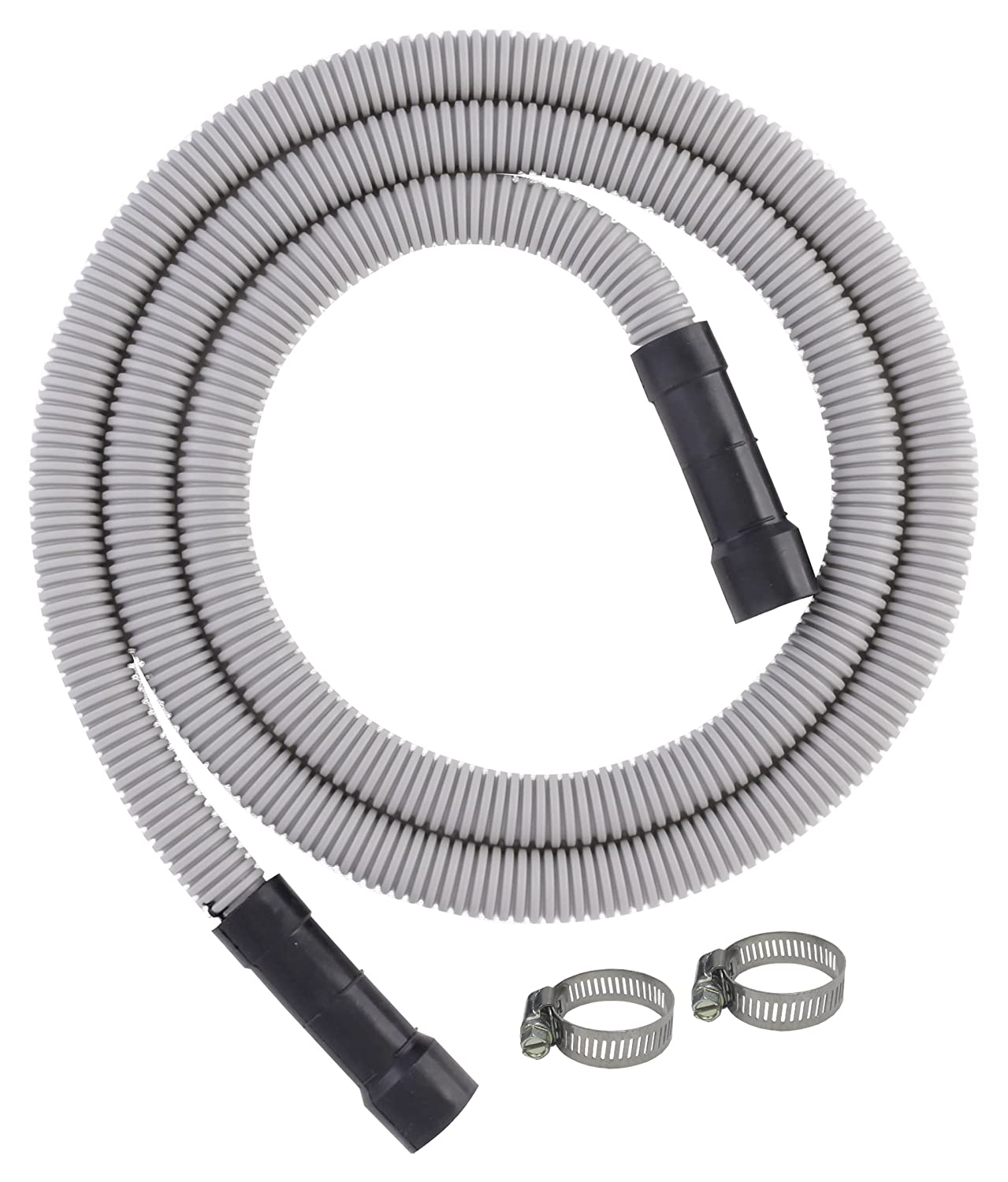 LDR Industries Dishwasher Water Discharge Drain Hose, For Dishwashers With 5/8 Inch, 3/4 Inch or 1 Inch Connections, 504 1500