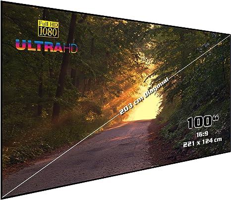 Pantalla de proyección rígida de cine en casa con marco | 100