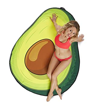 BigMouth Inc Gigantic Avocado Beach Blanket– Fun Beach Blanket Perfect for  The Beach, Pool 3803f5e5bf