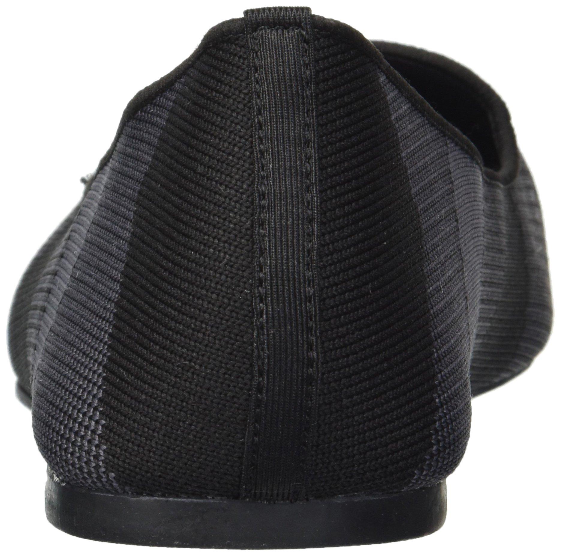 Skechers Women's Cleo-Sherlock-Engineered Knit Loafer Skimmer Ballet Flat, Black, 6.5 M US by Skechers (Image #2)