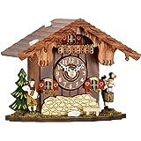 ISDD Cuckoo Clocks - Reloj de cuco de sobremesa (12 cm, madera de nogal