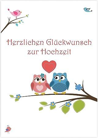 XXL Glückwunschkarte Hochzeit mit bedrucktem Briefumschlag Motiv ...