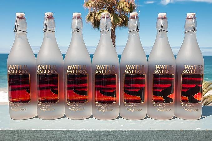 Reutilizable de cristal botellas de agua - Edición limitada Guy Harvey arte español Sailfish botella de vidrio - swing - Tapones para botellas de cristal ...