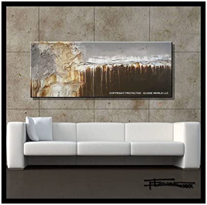 neutral wall art canvas wrapped canvas xl modern canvas wall artquotneutral beginningsquot limited edition hand embellished amazoncom art