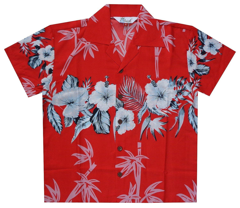 Hawaiian Shirts Boys Bamboo Beach Aloha Party Camp Short Sleeve Holiday Casual