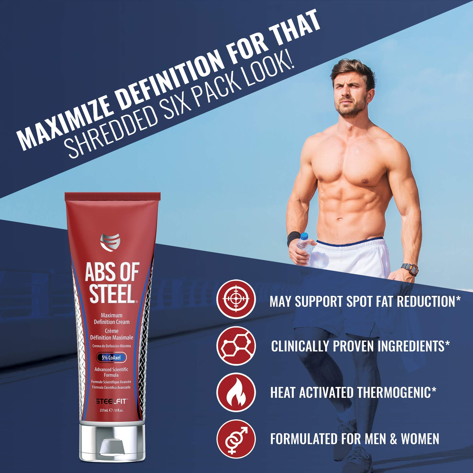 SteelFit Abs of Steel Maximum Definition Cream with 5% Coaxel, 8 fl oz (237ml). by SteelFit (Image #3)