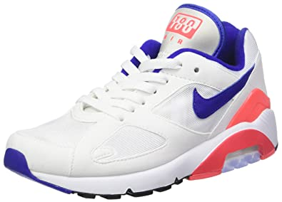competitive price ab8fa 8b62b Nike W AIR Max 180, Baskets Femme, Multicolore (Blanc Noir Rouge