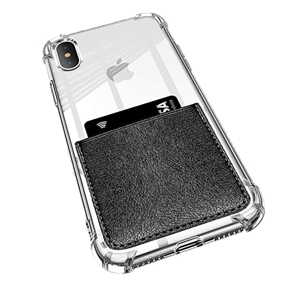 obvis for iphone xs max clear case card holder