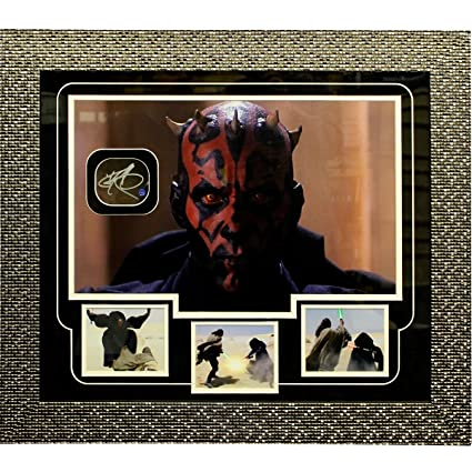 Darth Maul Close Up Head Shot Autographed Framed Collage (Outer ...