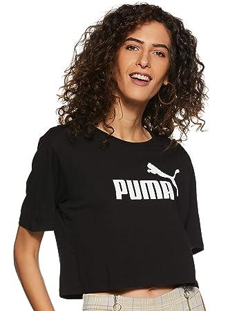 f36fde7a8cd Puma Damen ESS+ Cropped Logo Tee T-Shirt: Amazon.de: Sport & Freizeit