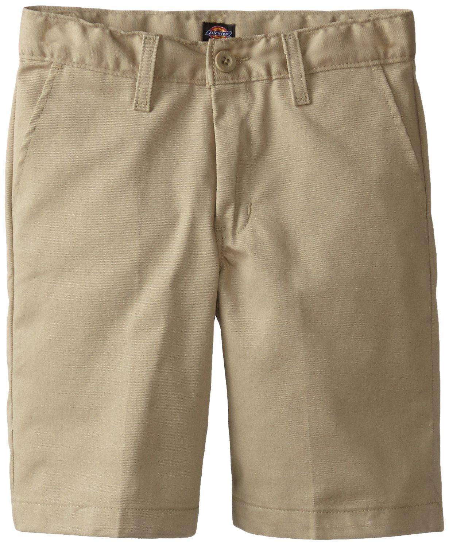 Dickies Khaki Big Boys' Flex Waist Stretch Flat Front Short, Desert Sand, 10