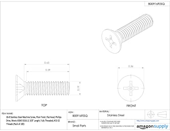 Truss Head Phillips Drive 1-1//4 Length Small Parts PTMSSS8C1.25-P100 1-1//4 Length #8-32 UNC Threads Plain Finish Fully Threaded 18-8 Stainless Steel Machine Screw Meets ASME B18.6.3 Pack of 100