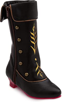 NWT Disney Store Anna Black Boots Costume Shoes Girl Frozen 7//8,9//10,11//12,13//1