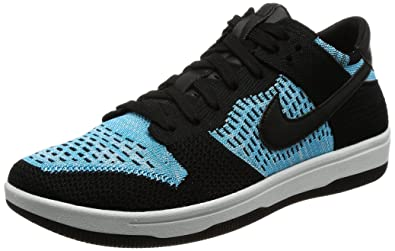 official photos 856c1 d8828 Image Unavailable. Image not available for. Color  Nike Men s 917746-001  Dunk Low Flyknit Trainers, Black Chlorine Blue ...