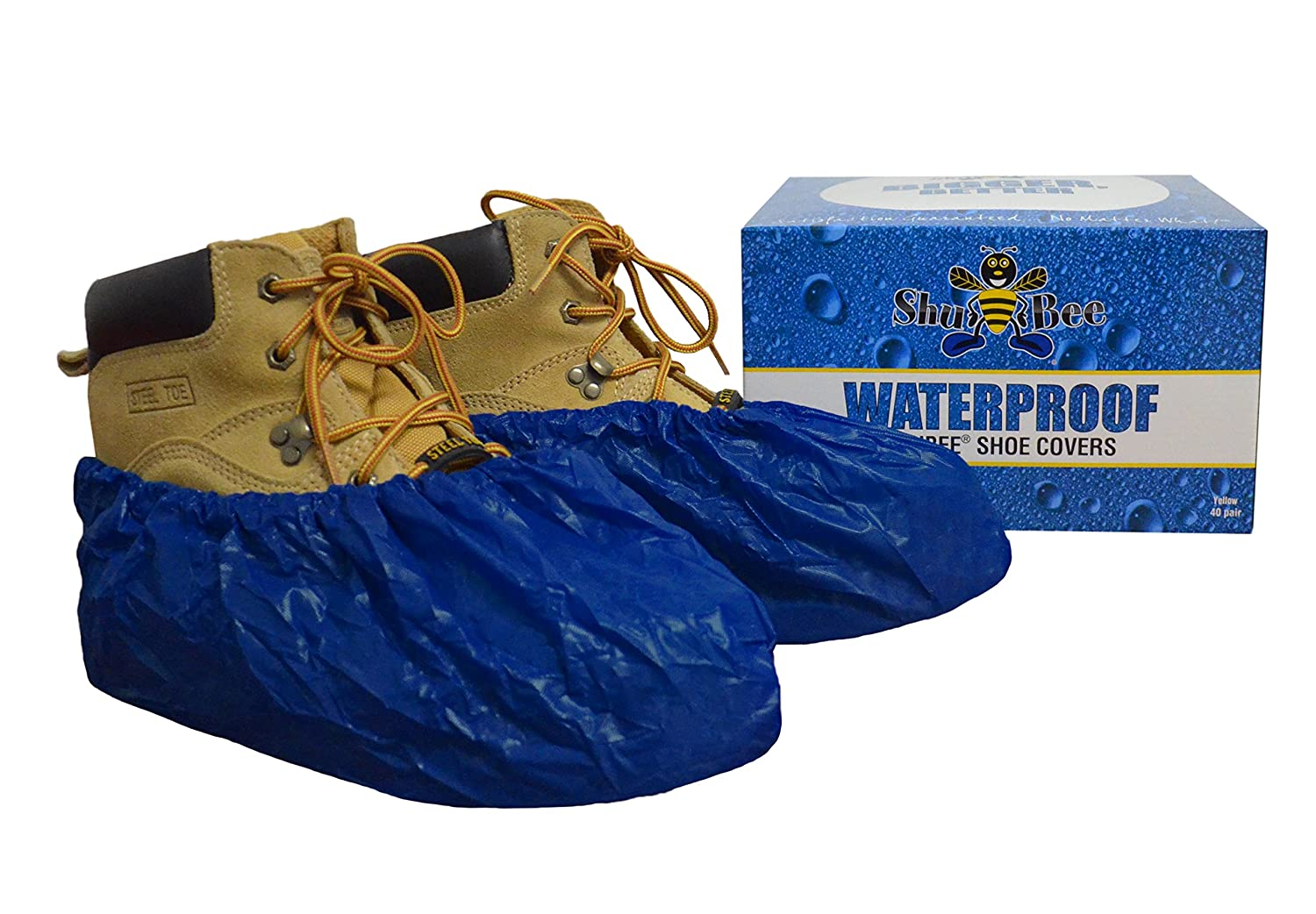 SHUBEE C-SB-SC-WP-DB WATERPROOF PROTECTIVE SHOE COVERS, DARK BLUE (40 PAIR PER BOX) MC350202
