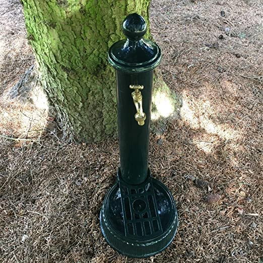 Antikas - fuente con grifo - fuentes de jardín - columna como toma de agua - agua columnas: Amazon.es: Jardín