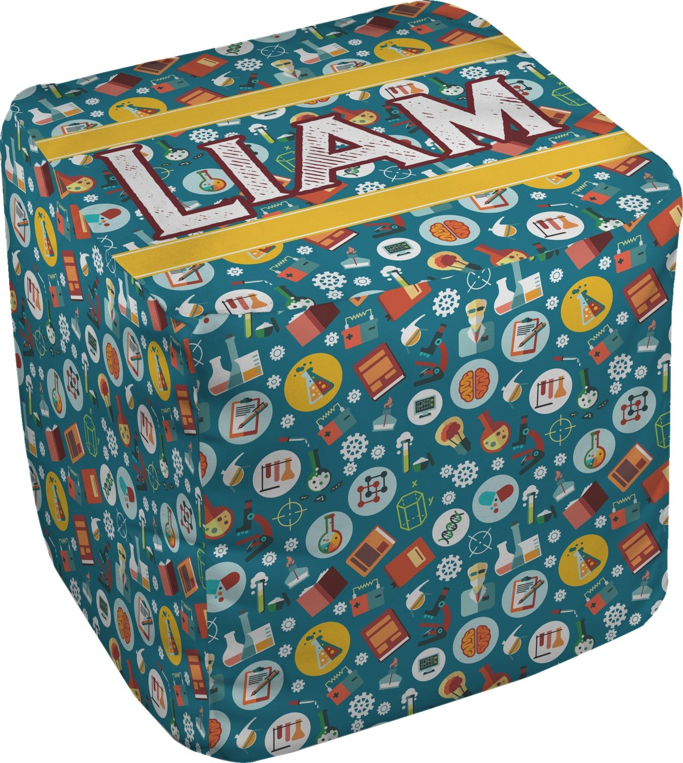 Rocket Science Cube Pouf Ottoman - 18'' (Personalized)