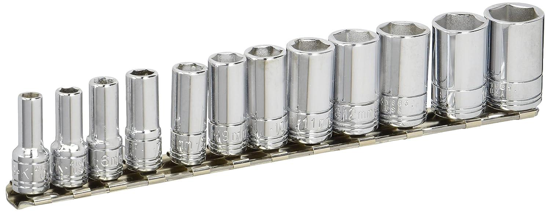 SK Hand Tool 41692 12 Pc.0.25 in. Drive 6-Point Semi-Deep Metric Socket Set  B00063VSGQ