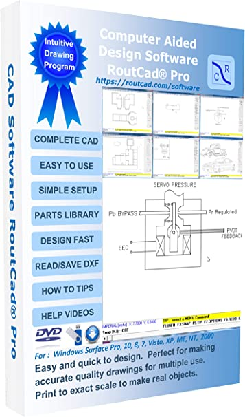 Amazon Com Routcad De Luxe Professional Cad Design Software
