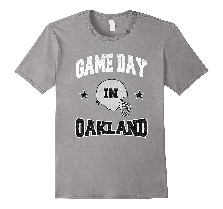 Football Season Game Day in Oakland Fan Vintage T-Shirt-Art