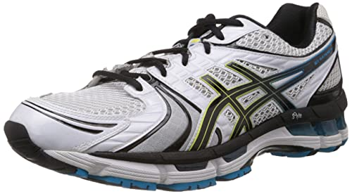 Buy ASICS Men's Gel Kayano 18 White, Black and Blue Mesh