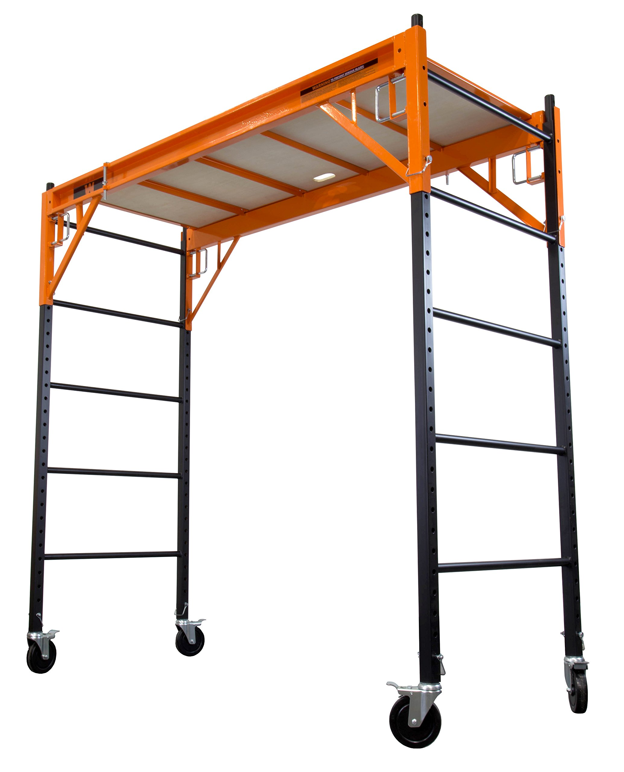 WEN 31109 1000 lb Capacity Rolling Industrial Scaffolding by WEN (Image #2)