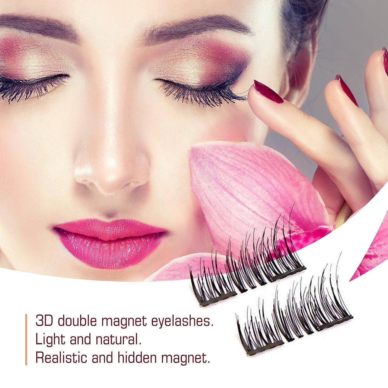 Amazon 8x Magnetic Eyelashes Glue Free 3d Reusable Dual Magnet