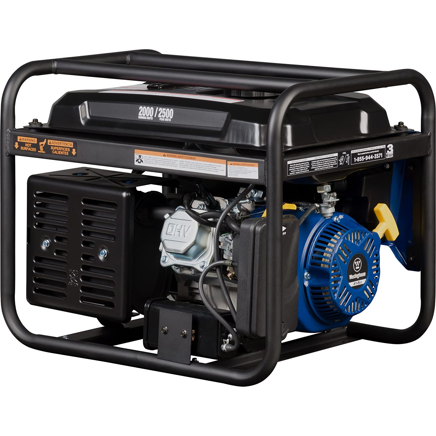 Westinghouse WGen2000 Portable Generator – 2000 Rated Watts 2500 Peak Watts – Gas Powered – CARB Compliant