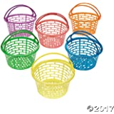 Plastic Bright Round Baskets : package of 12
