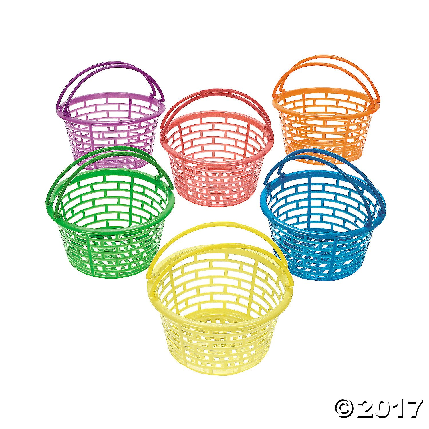 Amazon plastic bright round baskets package of 12 toys games negle Image collections