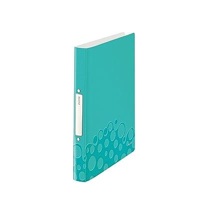 Leitz 42570051 Ringbuch Wow A4 Pp 2 Ringe 25 Mm Eisblau Amazon