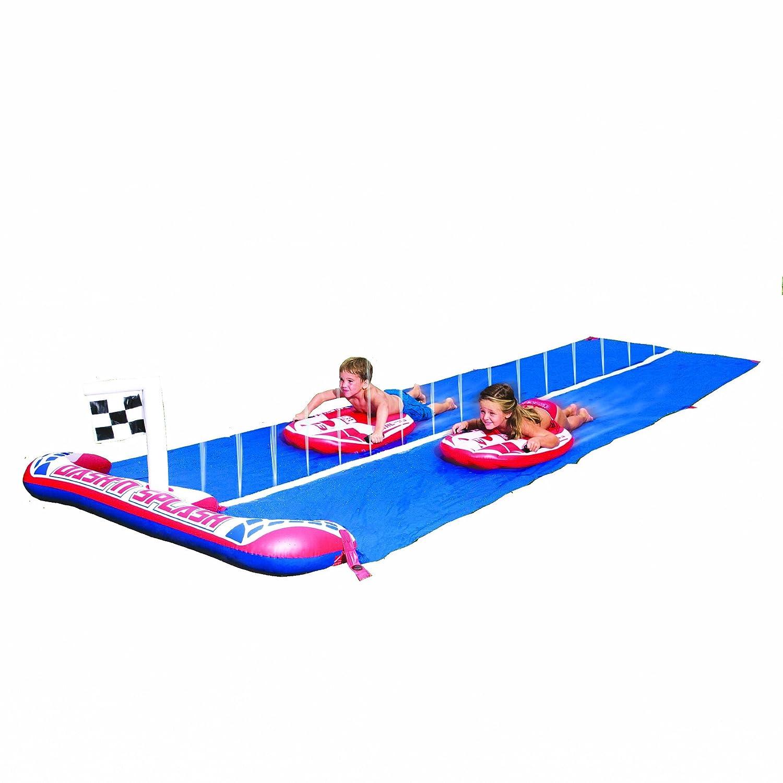 Bestway 52113B - Wasserrutsche für Kinder Dash´n Splash Ralley Pro 488 cm mit 2 Surfbrettern