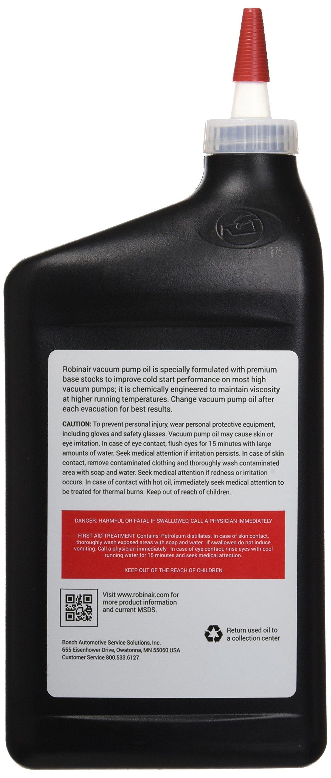 Robinair 13203 Premium High Vacuum Pump Oil - 1 Quart by Robinair (Image #2)