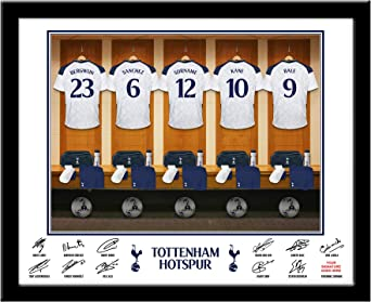 Tottenham Hotspur Official Personalised Dressing Room Framed Print