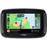 """TomTom 1GF0.047.00 Rider 550 Motorcycle GPS Navigation Device with Built-in Wi-Fi and Free Lifetime Traffic and Map Updates of North America, 5"""" - Black"""