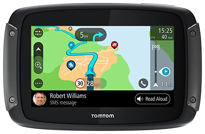 TomTom Rider 550 Motorcycle GPS, with Specific Winding and Hilly Roads,  Wi-Fi, Compatible with Siri and Google Now, Lifetime Traffic/Maps