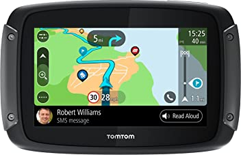 TomTom 1GF0.047.00 Rider 550 Motorcycle GPS Navigation Device with Built-in Wi-
