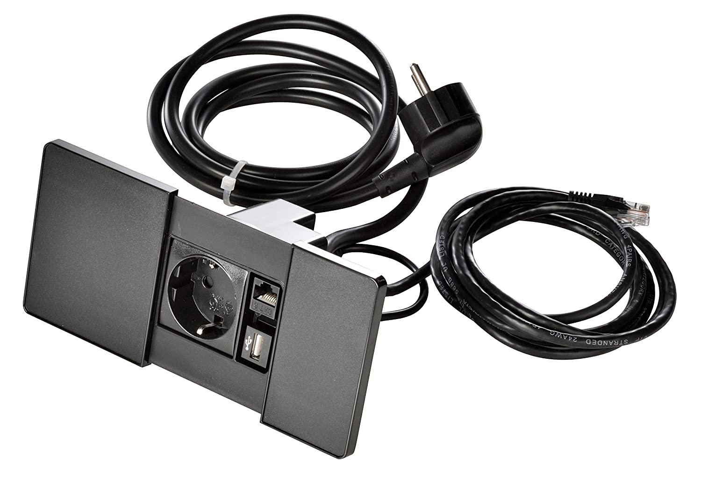 Kopp 939621017 versapad Prise encastrable IP20, 3400 W Noir 3400W Noir