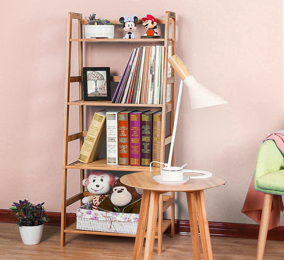 outlet store 80c1e 0def6 Amazon.com: GT Etagere Bookcase Tall Ladder Shelf Furniture ...