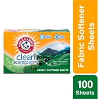 Deals on Arm & Hammer Fabric Softener Sheets 100 sheets Clean Mountain