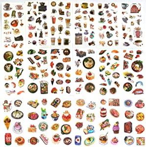 18 Sheets Animal Plant Flowers Scrapbook Stickers for Diary,DIY Arts,Album, Journal, Calendars and Notebook (Food)