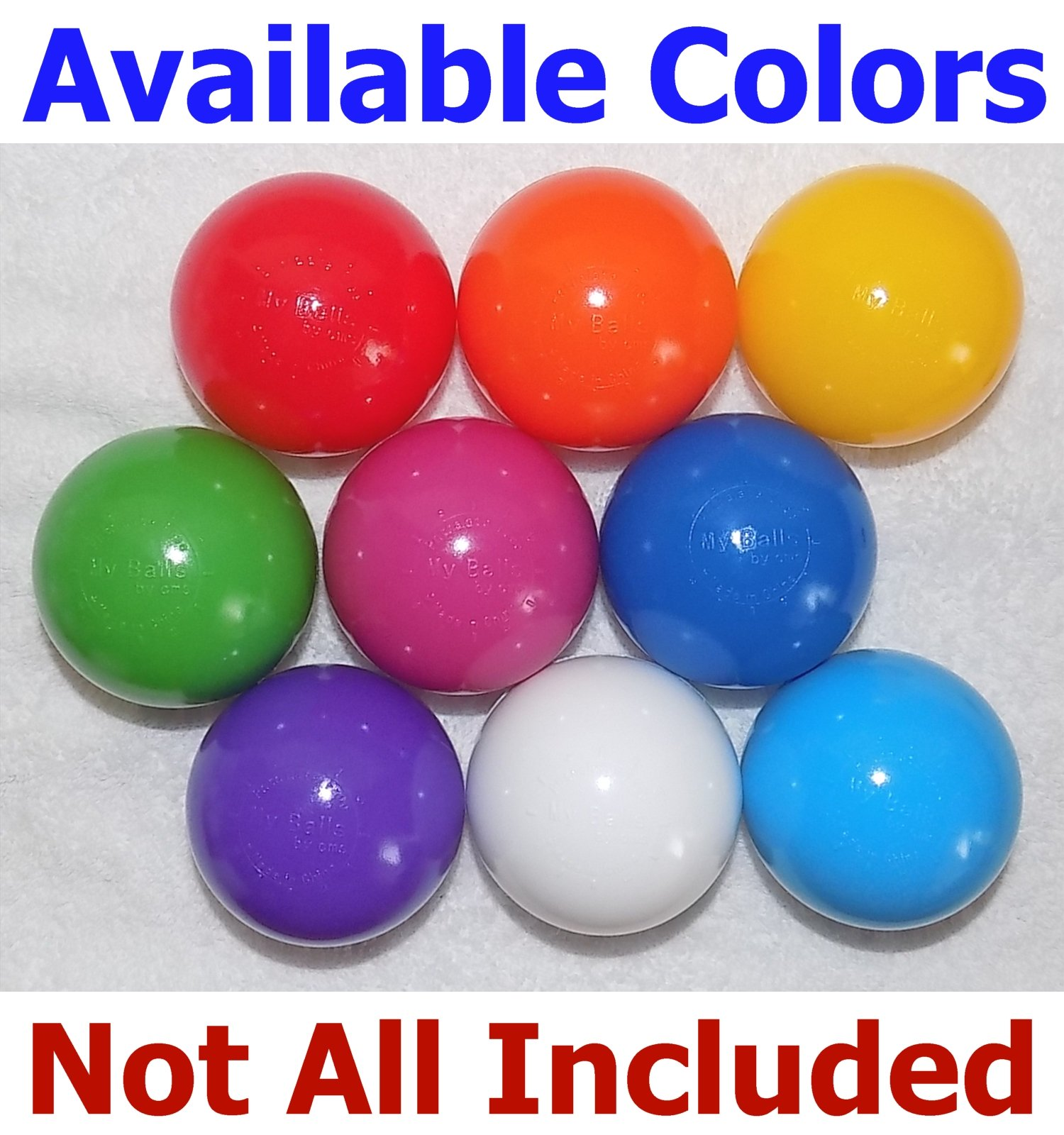 My Balls Pack of 500 Jumbo 3'' Yellow Color Commercial Grade Ball Pit Balls - Air-Filled Crush-Proof Phthalate Free BPA Free PVC Free Non-Toxic Non-Recycled Plastic by My Balls by CMS (Image #5)