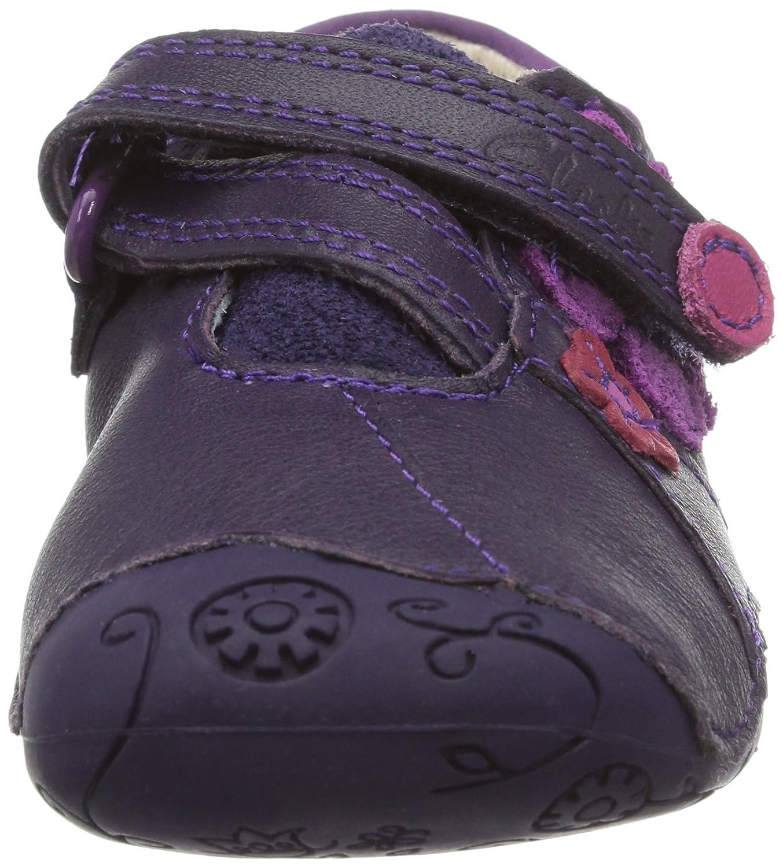 Clarks Dizi Dots Baby Girls First Walking Shoes Purple