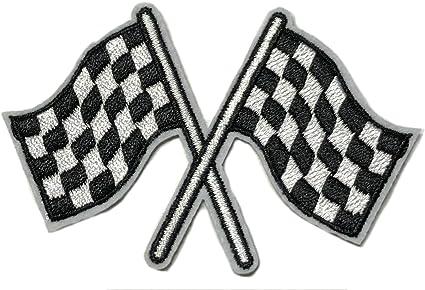 Amazon.com: Banderas de carreras parche Nascar Biker ...