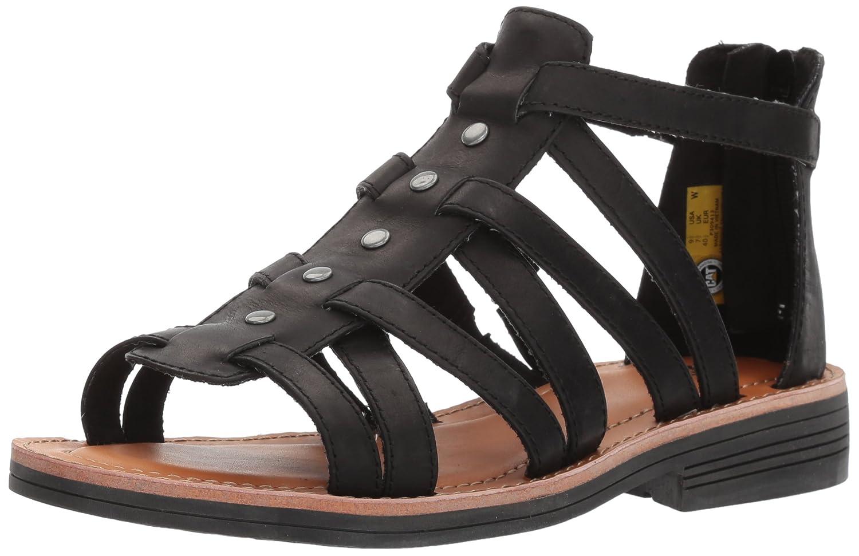 Caterpillar Women's Teshie Flat Sandal B01HNUYVOA 8 B(M) US|Black