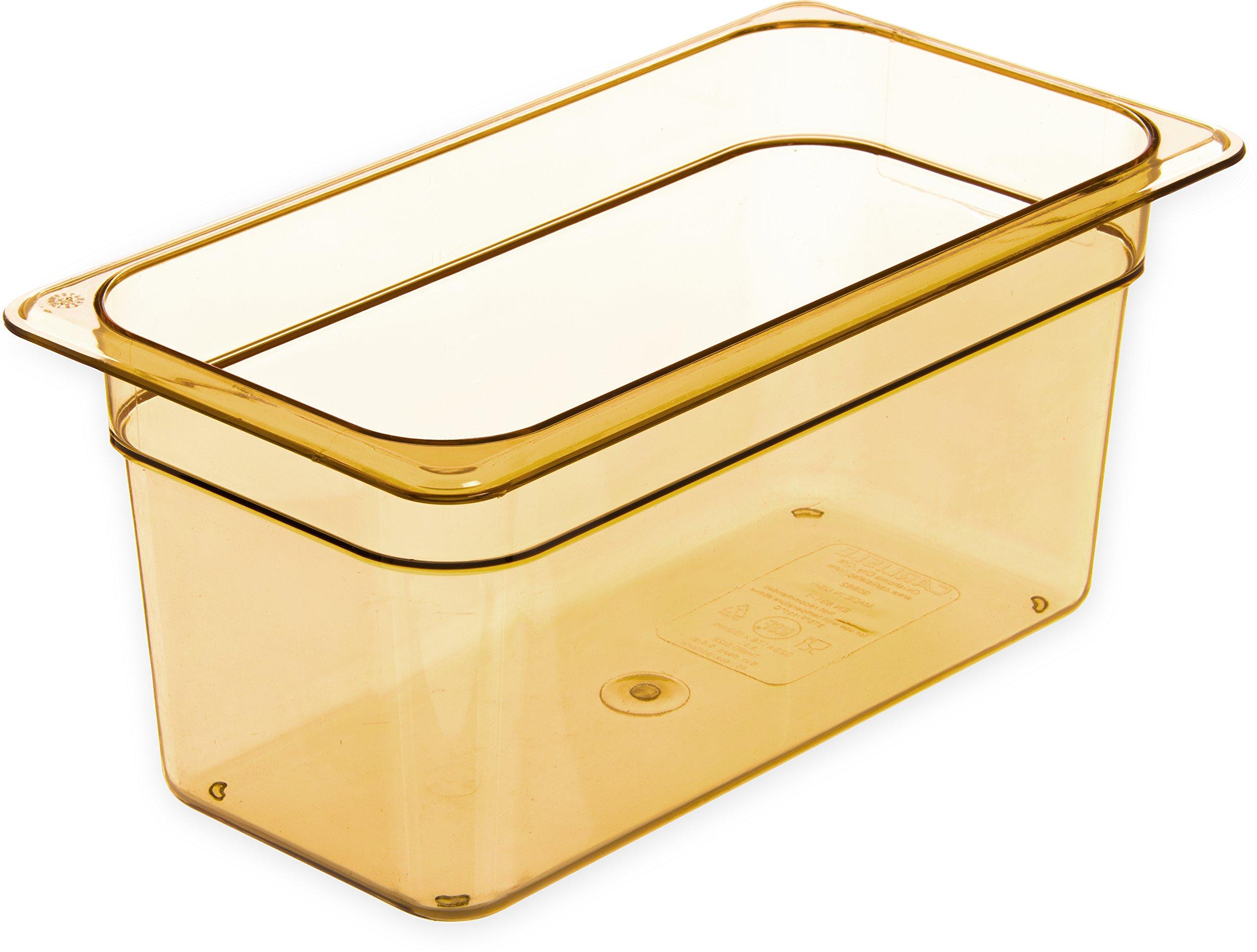 Carlisle 3086213 StorPlus High-Heat Third-Size Food Pan, 5.7 qt. Capacity, 12-3/4 x 7 x 6'', Amber (Case of 6)
