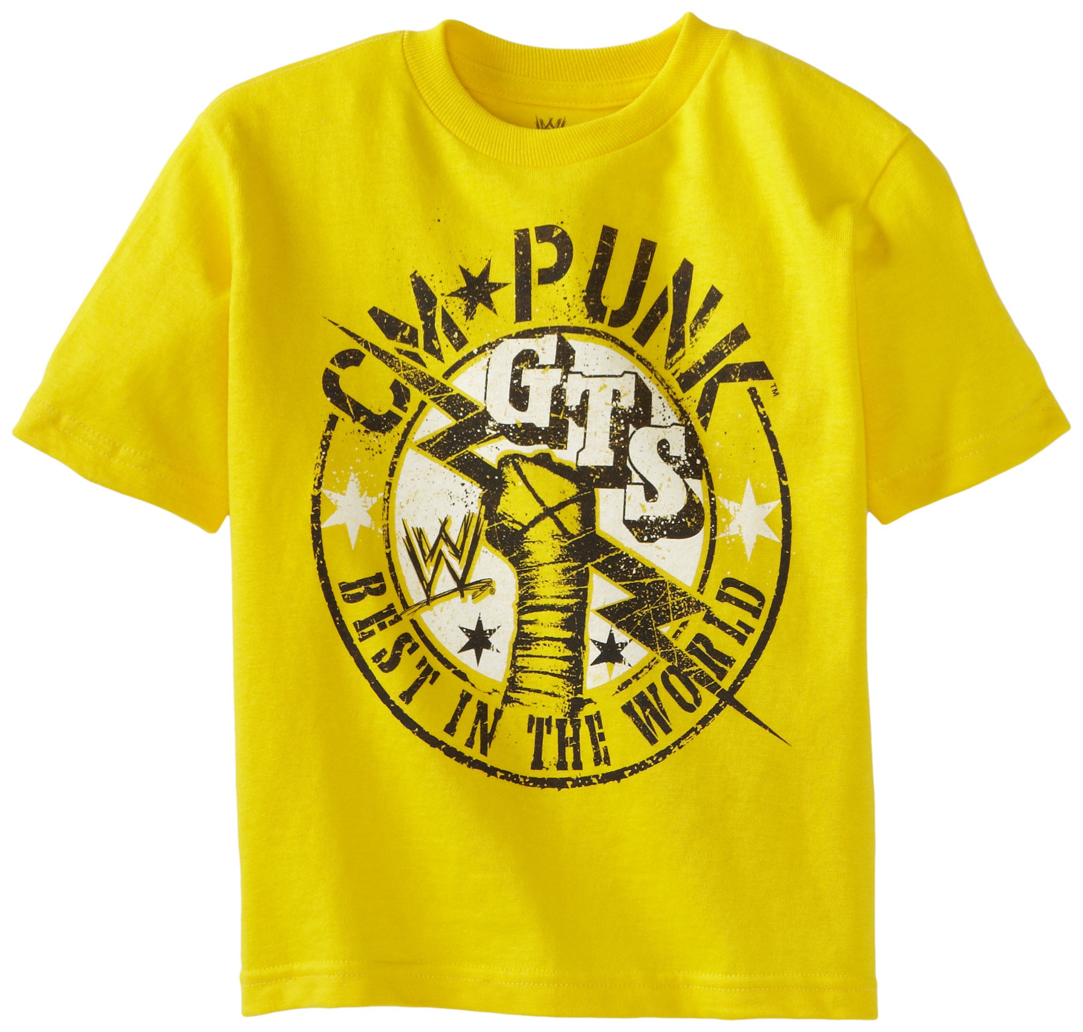 WWE Little Boys' CM Punk T-Shirt, Yellow, 5/6