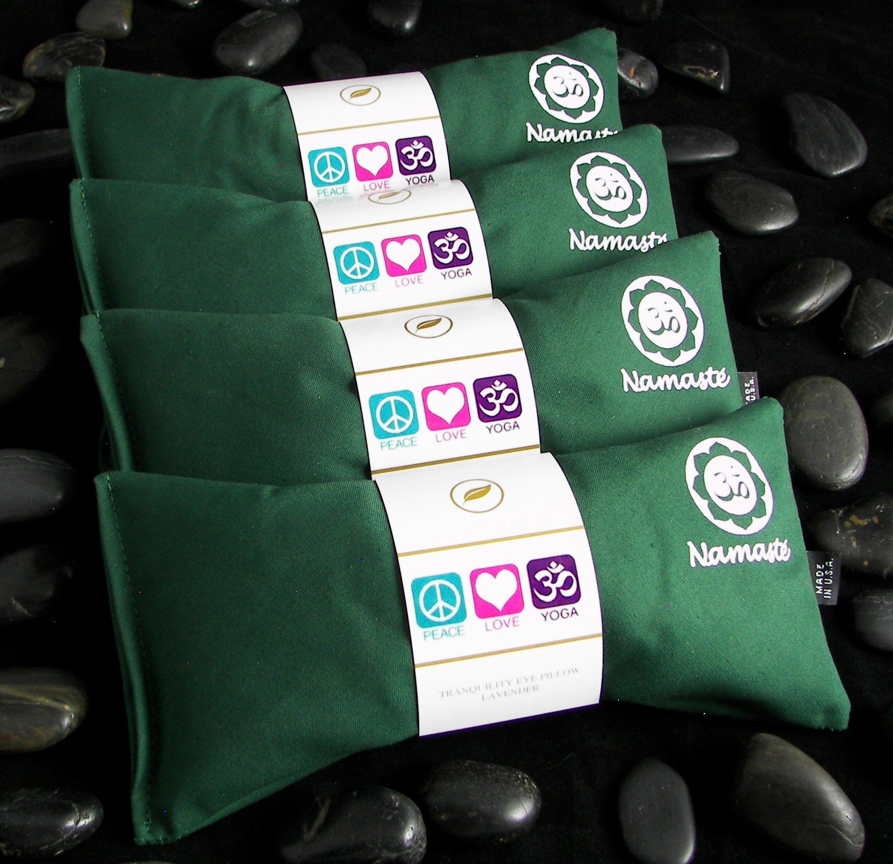 Namaste Yoga Unscented Eye Pillow - Green - Set of 4