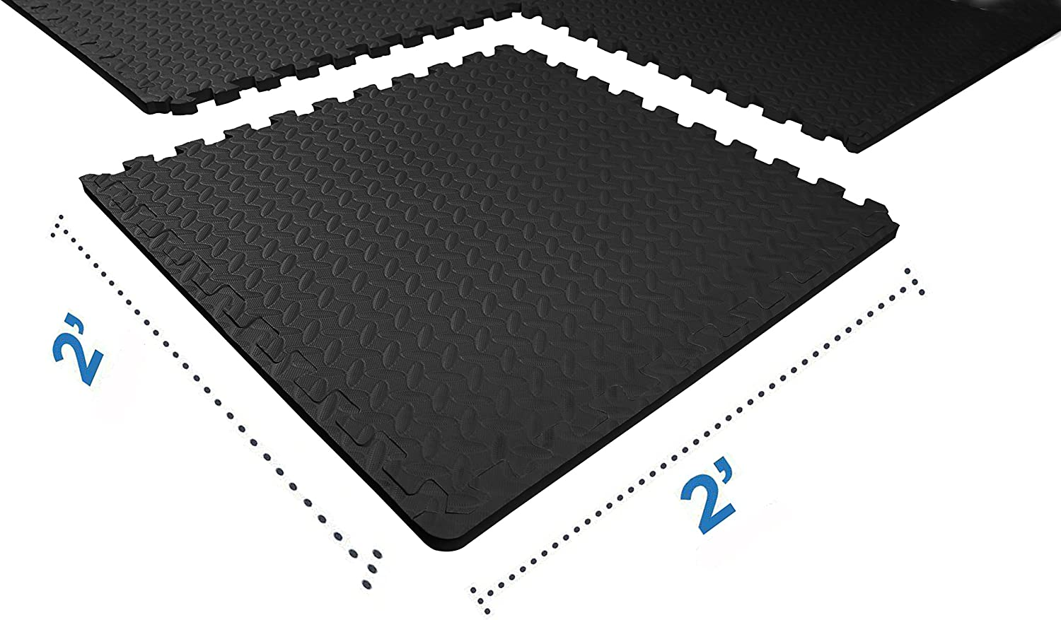 BalanceFrom Puzzle Exercise Mat with EVA Foam Interlocking Tiles for Exercise